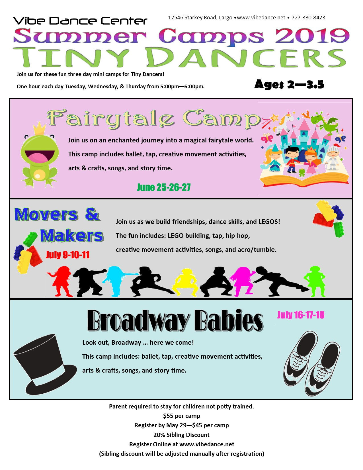 Tiny Dancer Summer Camps 2019